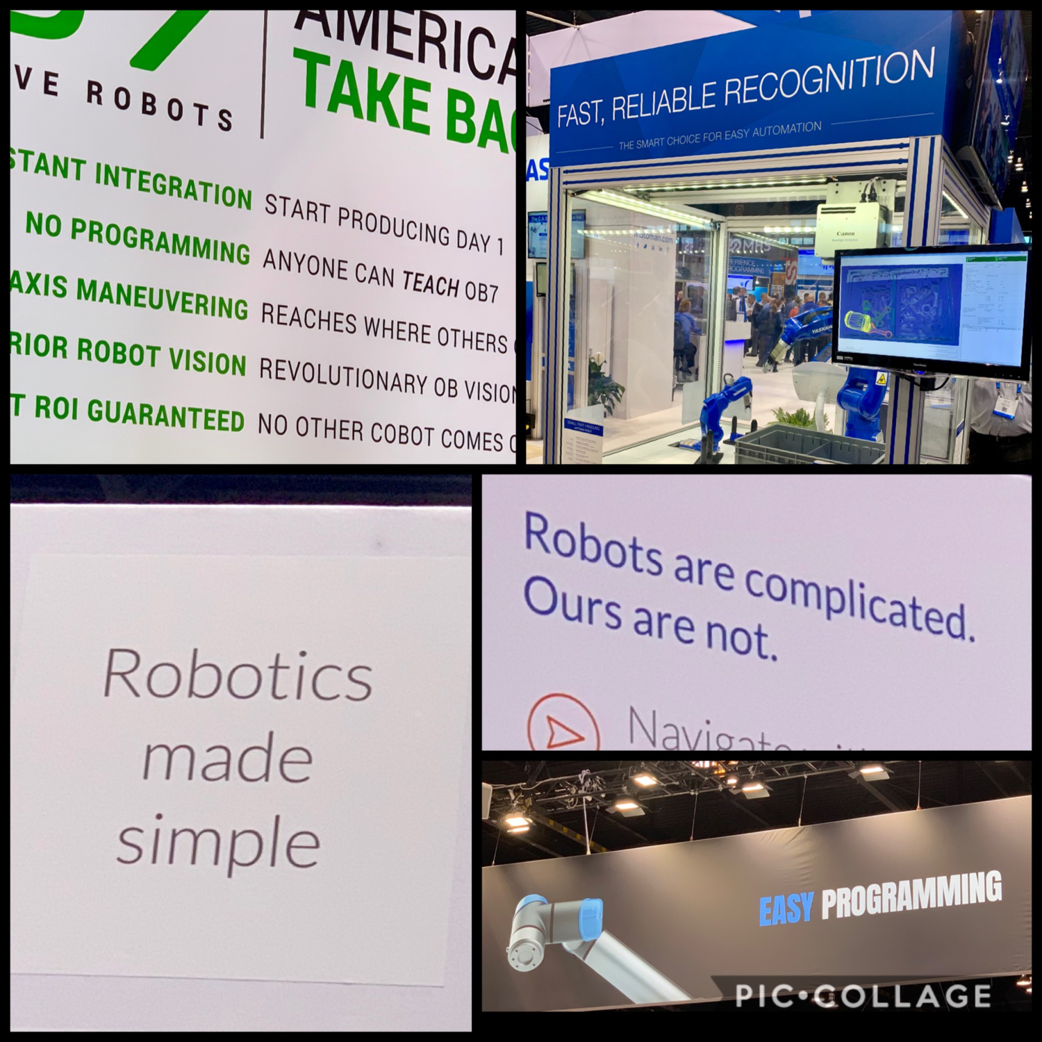 Cobots, picking and 3D vision at Automate 2019