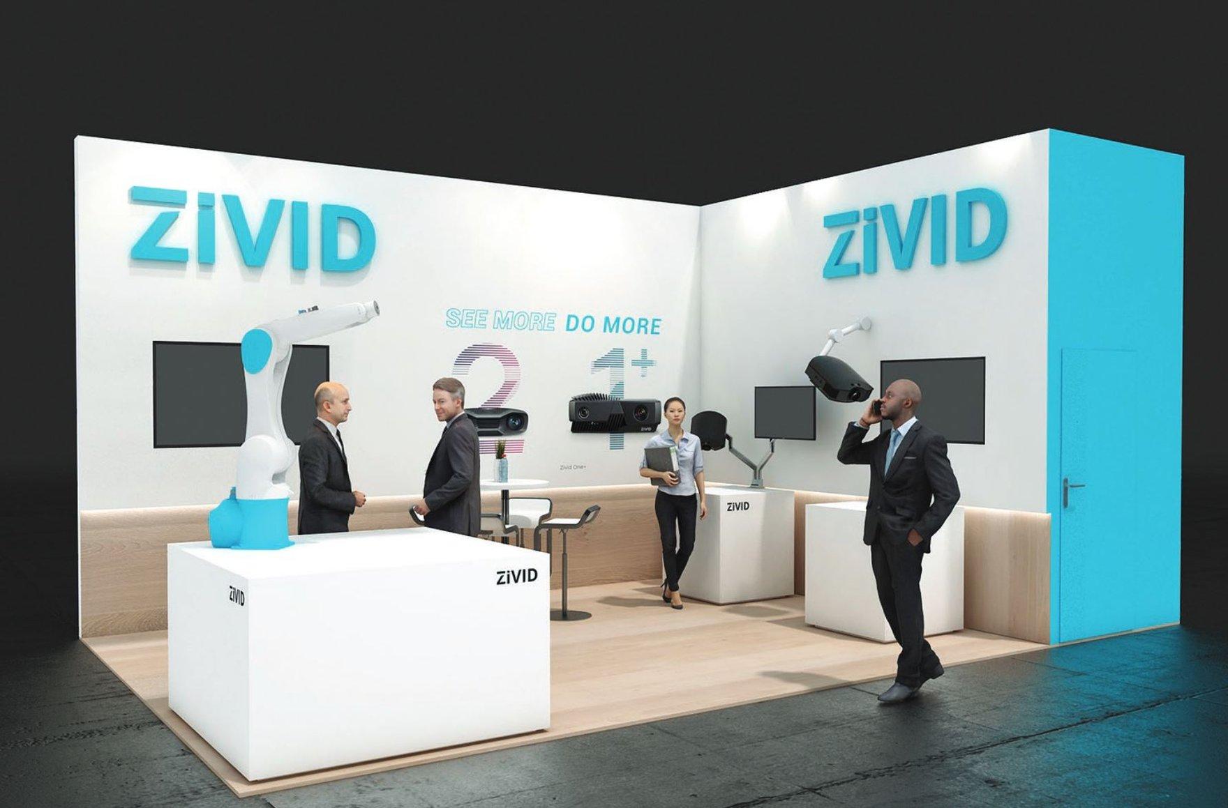 Zivid booth at Vision 2021