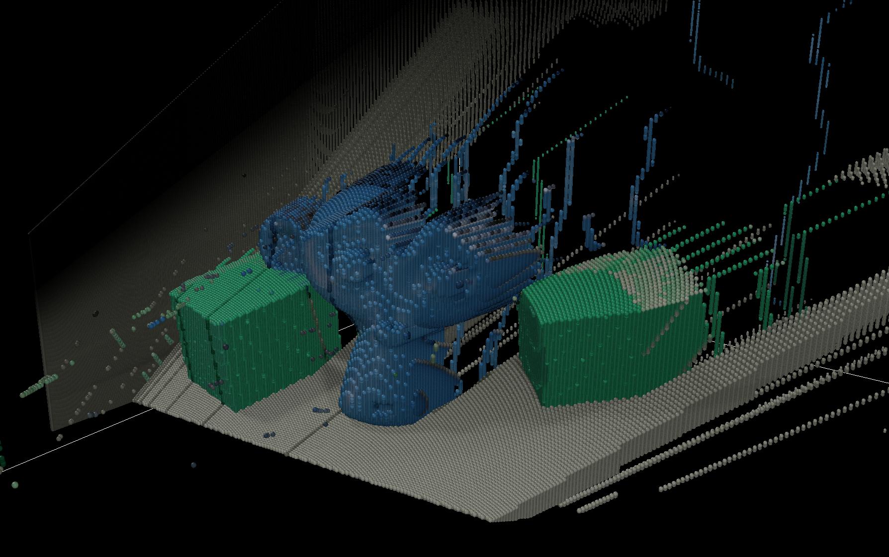 3D sensor - Blender - point cloud example