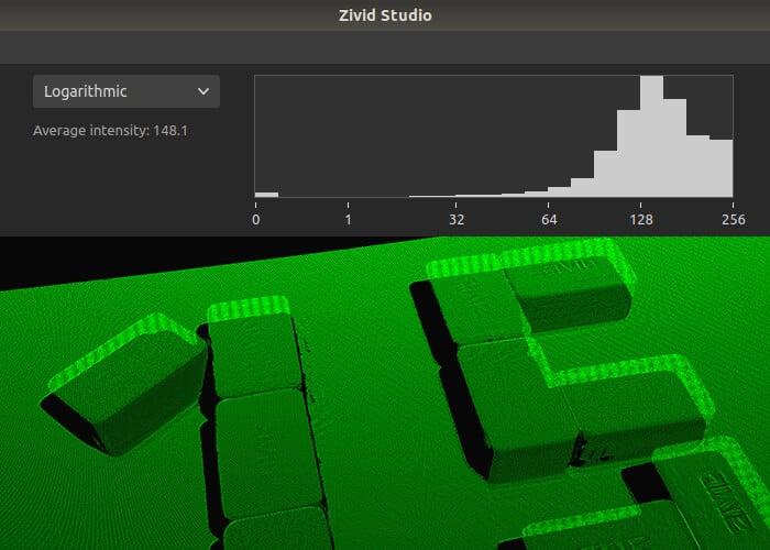 Histogram in Zivid Studio 1.5