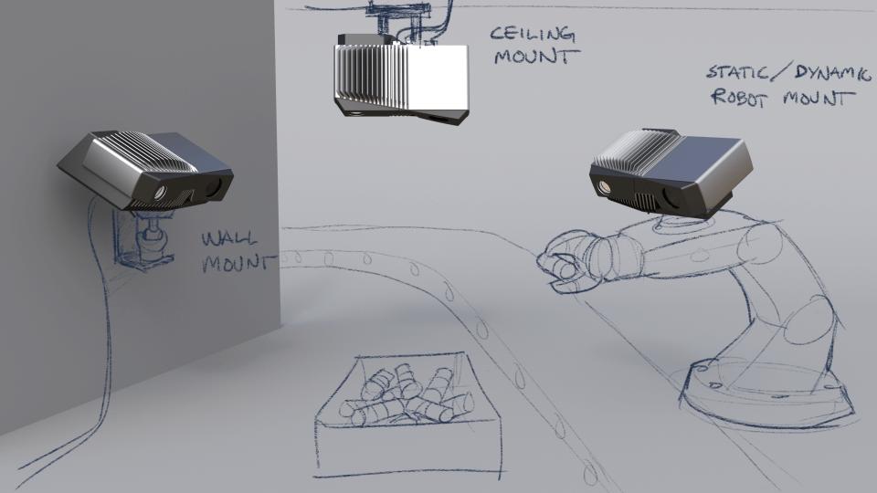 Zivid 3D Camera Mounting