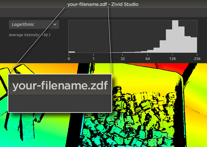 Zivid Studio with filename feature